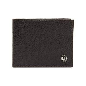 Hnedá pánska kožená peňaženka Trussardi Pickpocket, 12,5 × 9,5 cm