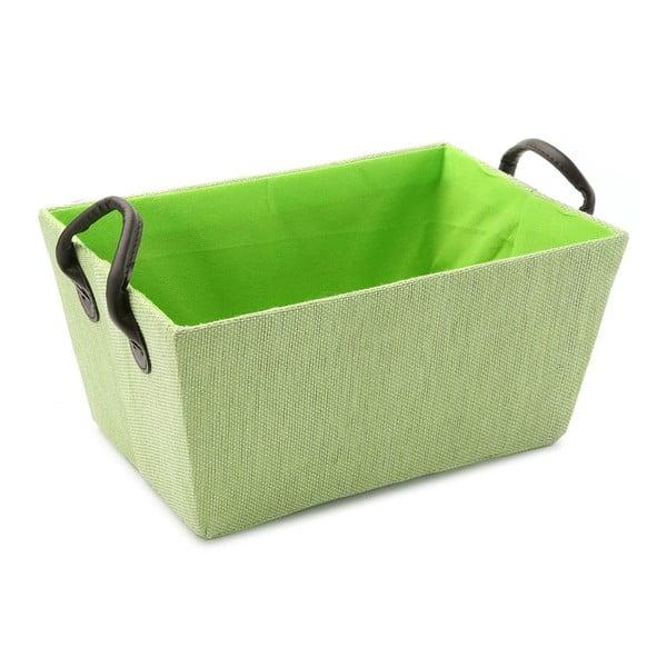 Zelený košík s úchytmi Green Handle, 30x25cm