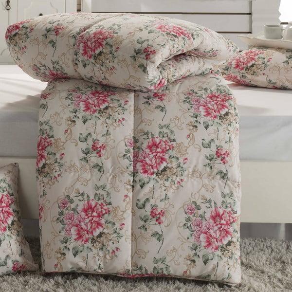 Prikrývka na posteľ Adalise Cream, 195x215 cm
