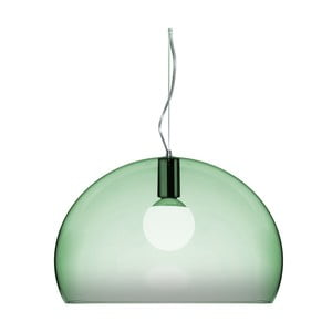 Svetlozelené stropné svietidlo Kartell Fly, ⌀52cm