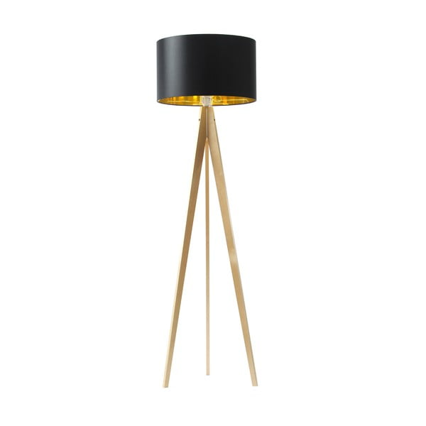 Stojacia lampa Artist Black Golden/Birch, 150x42 cm