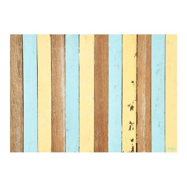 Koberec z vinylu Listones Retro Pastel, 120x170 cm