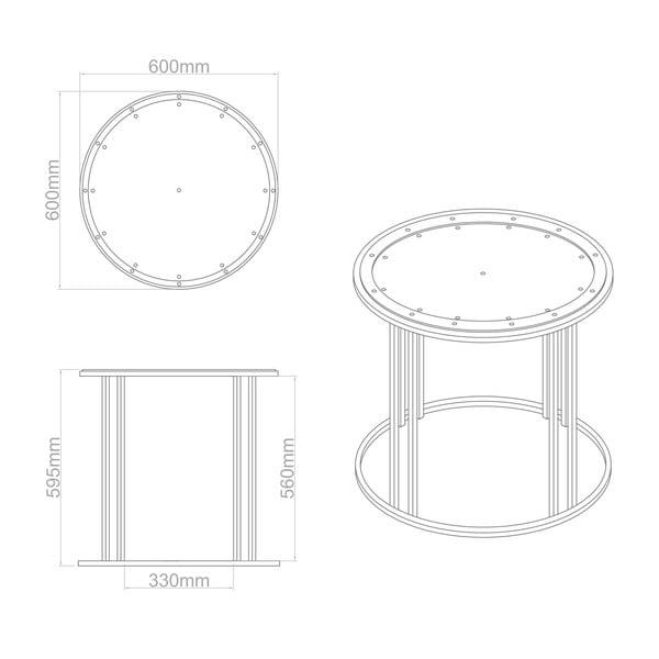 Odkladací stolík Clock Face