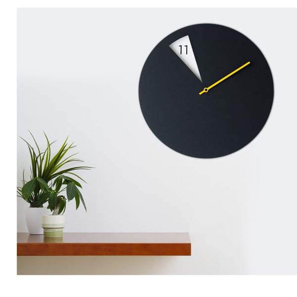 Hodiny Freakishclock Black/Yellow