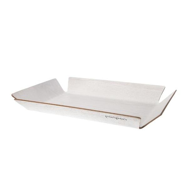 Drevená tácka Trayo 35x50 cm, biely