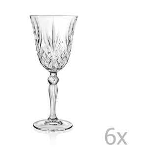 Sada 6 pohárov na sekt RCR Cristalleria Italiana Teofila
