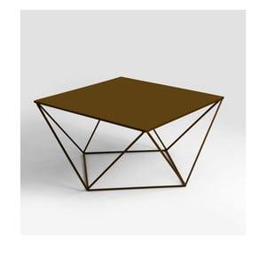 Konferenčný stolík v zlatej farbe Custom Form Daryl, 80 × 80 cm