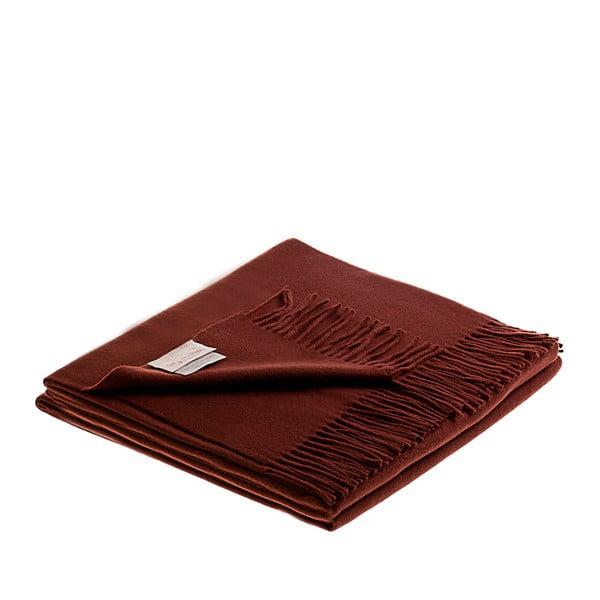 Vlnená prikrývka Lovely 130x180 cm, čokoládová