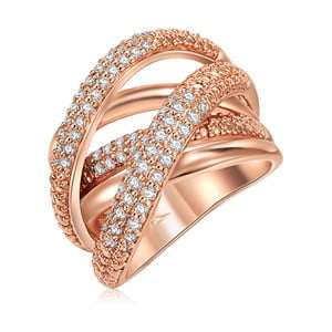 Dámsky prsteň vo farbe ružového zlata Runaway Barbara, 58