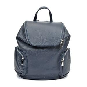 Modrý kožený batoh Luisa Vannino Fiona