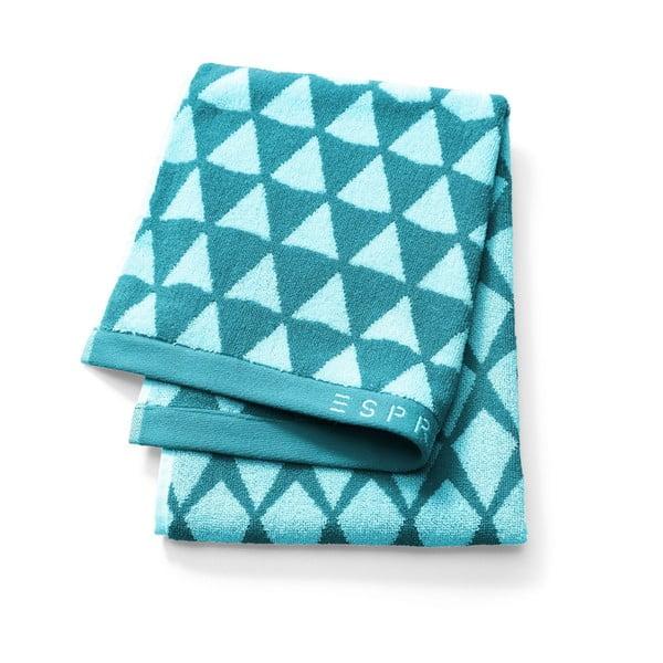 Modrý vzorovaný uterák Esprit Mina, 50x100cm