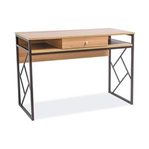 Písací stôl s konštrukciou z čierno lakovanej ocele Signal Tablo