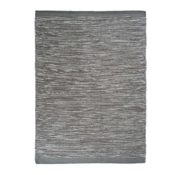 Vlnený koberec Asko, 80x250 cm, sivomodrý