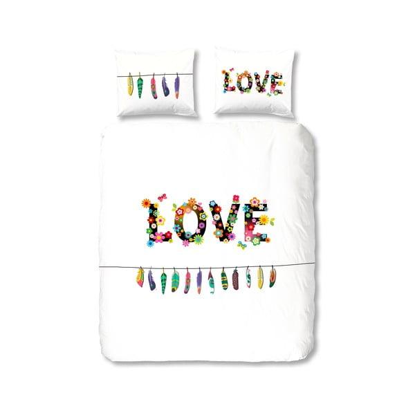 Bavlnené obliečky Muller Textiel Flower Love, 135 x 200 cm