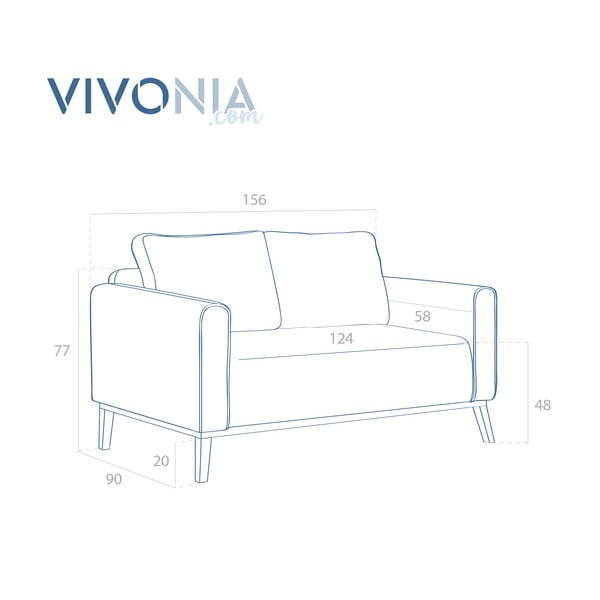 Limetkovozelená pohovka pre dvoch Vivonita Milton