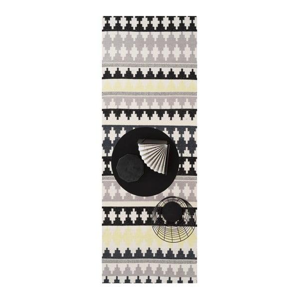 Zelený bavlnený koberec Linie Design Nantes, 80x250cm