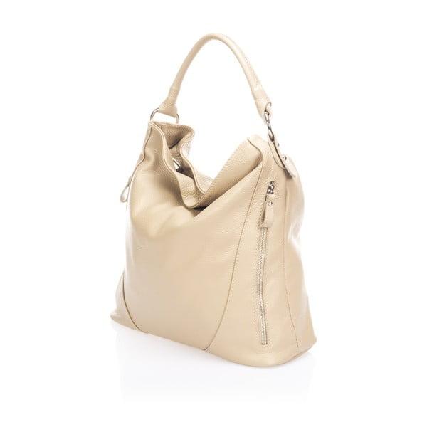 Béžová kožená kabelka Markes Rodrick