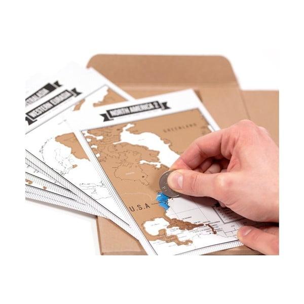 Sada pre cestovateľov - notes a zoškrabávacie mapy