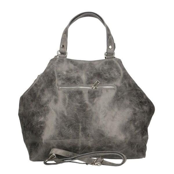 Sivá kožená kabelka Chicca Borse Terracia