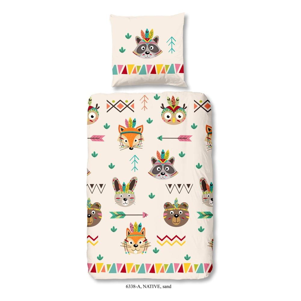 Detské obliečky na jednolôžko z bavlny Good Morning Native, 140 × 200 cm