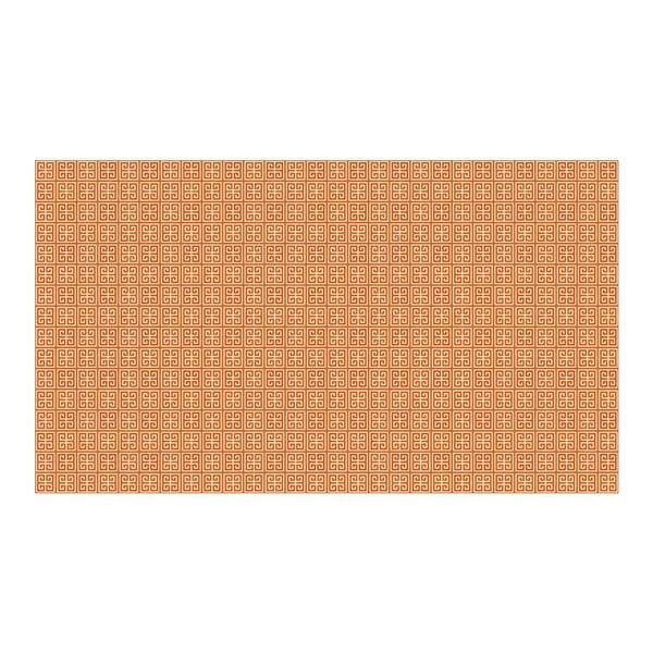 Vinylový koberec Ghazal Orange, 52x180 cm