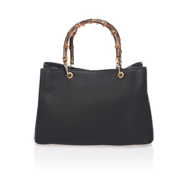 Čierna kožená kabelka Markese Nero