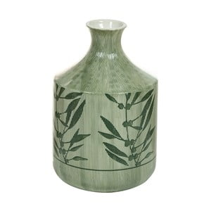 Zelená kameninová váza Santiago Pons Florist, výška 23 cm