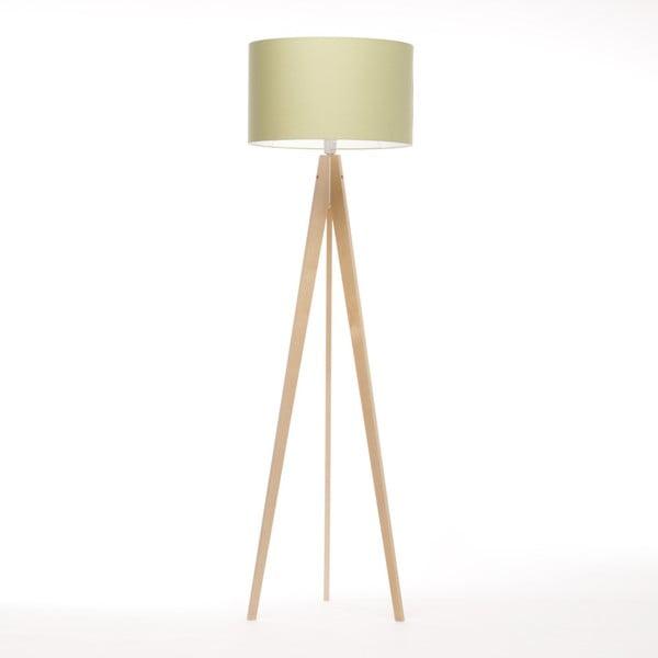 Zelená stojacia lampa Artist, breza, 150 cm