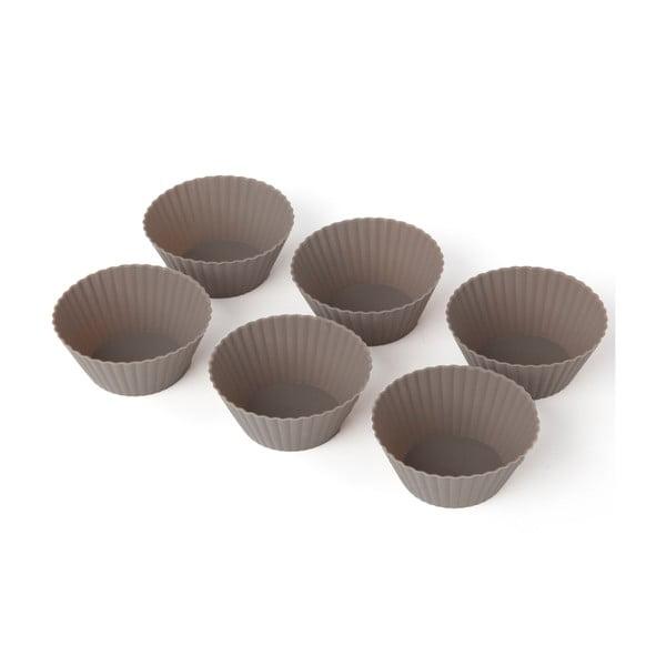 Sada 6 silikónových foriem na muffiny Sabichi Cone