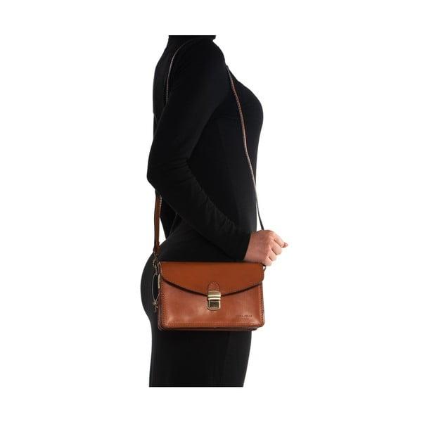 Kožená kabelka Mangotti 3041 Cognac