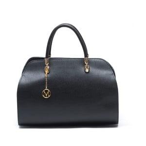 Kožená kabelka Mangotti 415, čierna