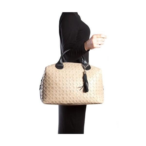 Kožená kabelka Carla Ferreri 890 Fango