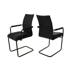 Čierna jedálenská stolička s područkou Canett Clipper