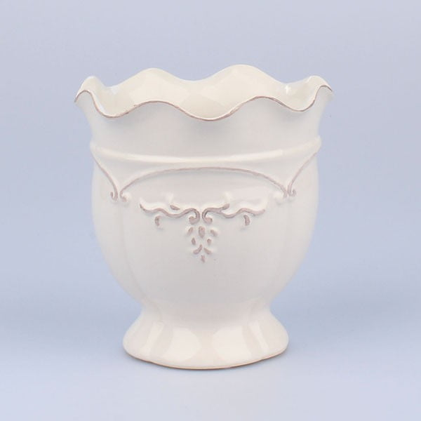 Váza Antic White, 16x17 cm