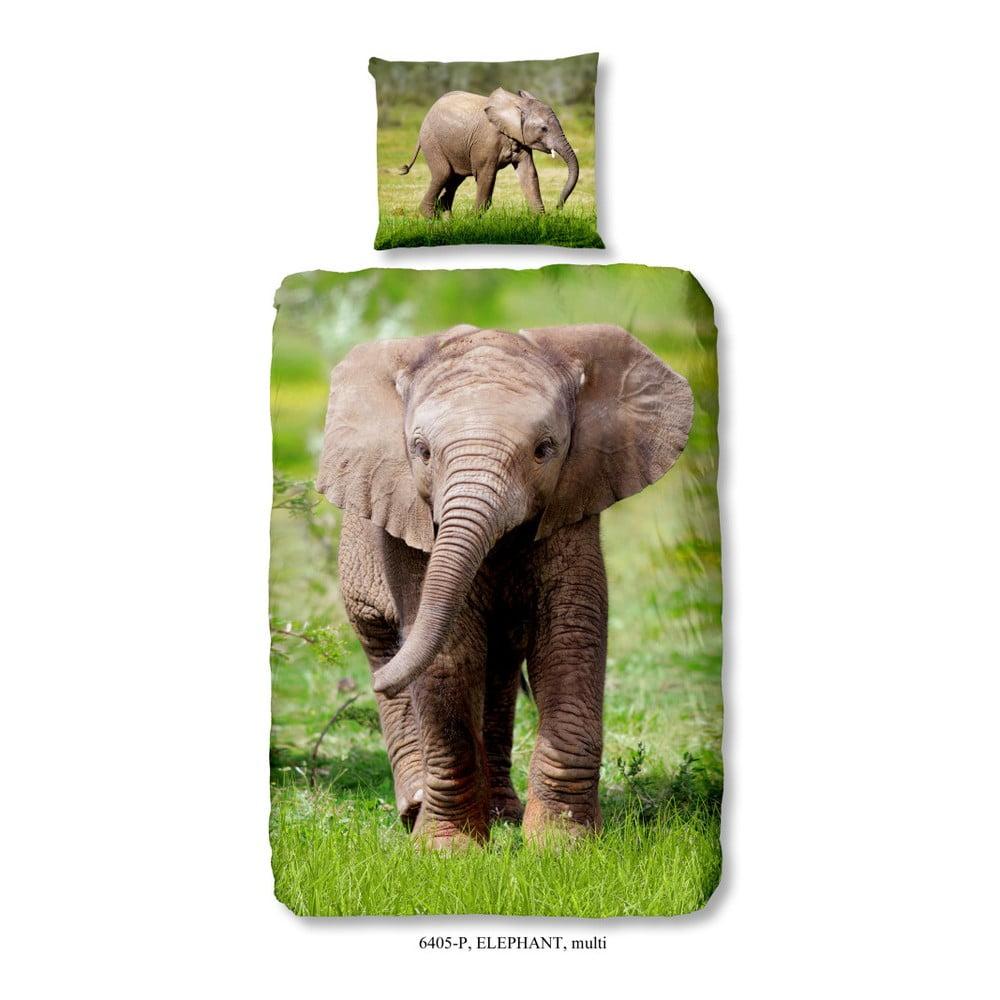 Detské bavlnené obliečky Muller Textiels Elephant, 140 × 200 cm