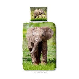 Detské bavlnené obliečky Muller Textiels Elephant, 140×200 cm