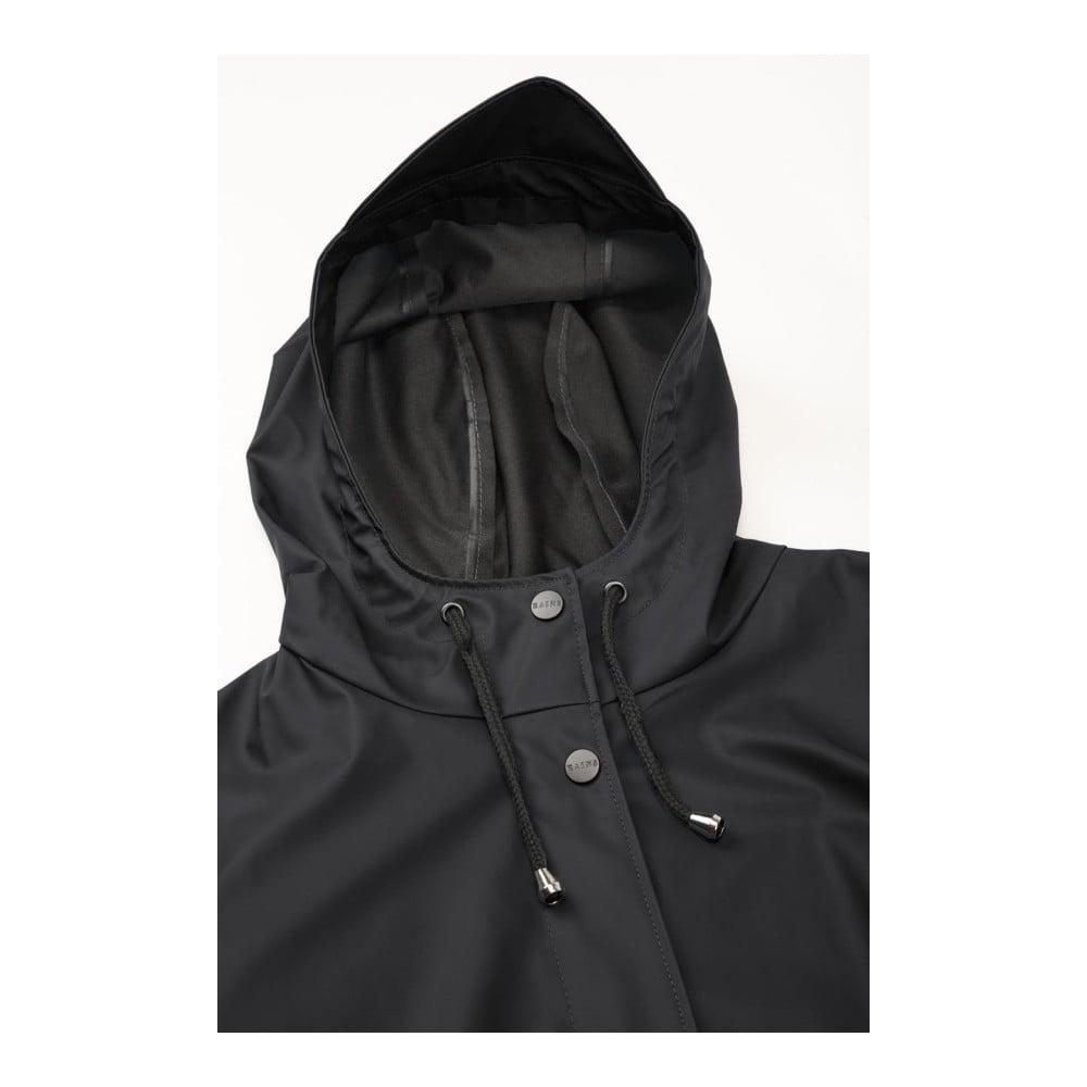Čierny dámsky plášť s vysokou vodeodolnosťou Rains Curve Jacket ... c78411d28fa