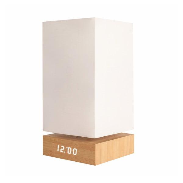 Lampa Beech Click Clock s bielym LED budíkom