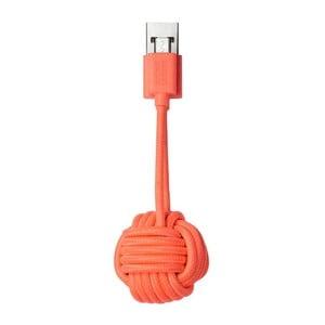 Oranžový nabíjací kábel s Micro USB Native Union Key Cable