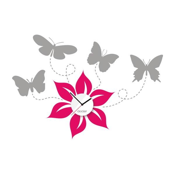 Hodiny so samolepkou Butterflies