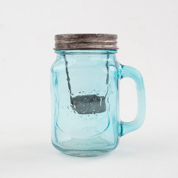 Modrý sklenený svietnik Dakls
