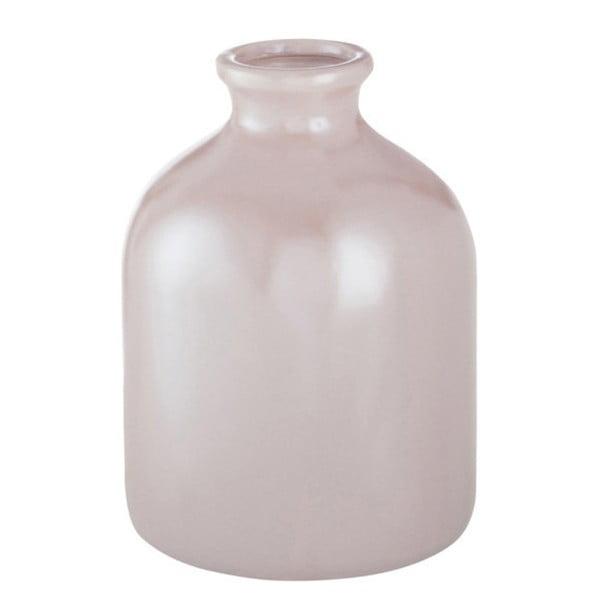 Ružová kameninová váza J-Line, 13 x 13 x 17 cm