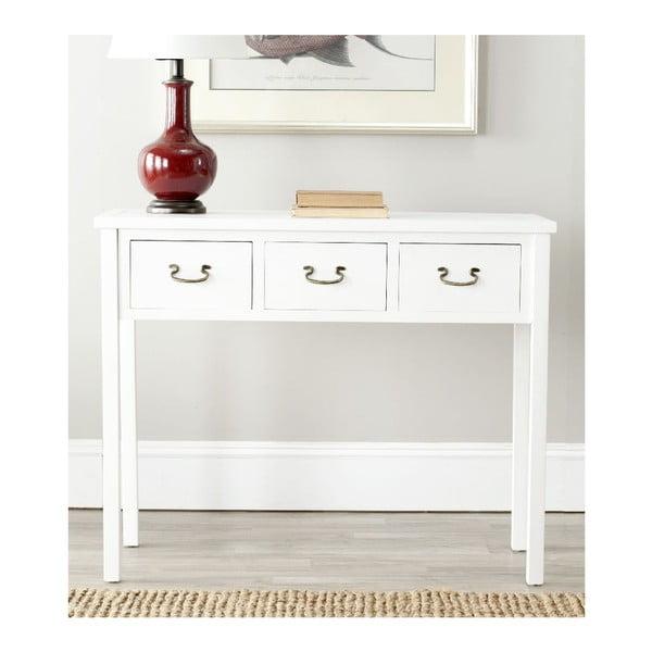 Biely konzolový stolík Safavieh Riley