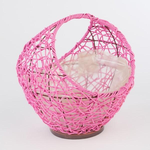 Ratanový kvetináč Baskie Pink