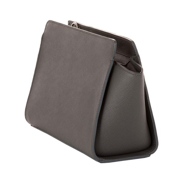 Sivá kožená kabelka Andrea Cardone 1008