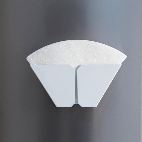 Biely magnetický držiak kávových filtrov Yamazaki Tower