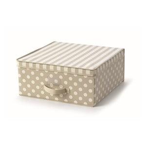 Béžový uložný box s vrchnákom Cosatto Trend, 45x45cm