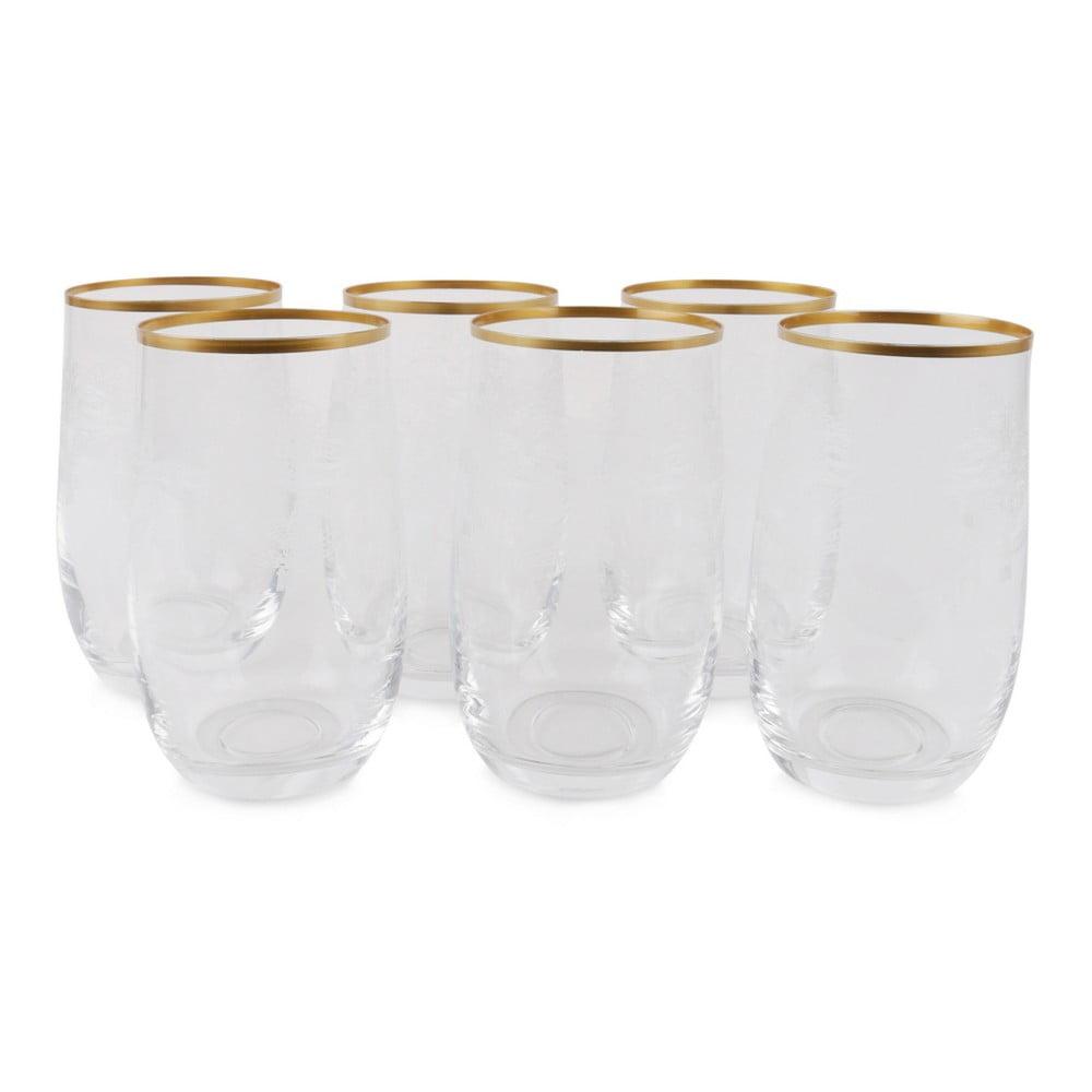 Sada 6 sklenených pohárov Bridget