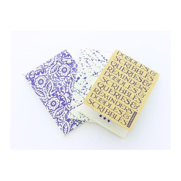 Sada 3 malých zápisníkov Blueprint Collections Emma Bridgewater