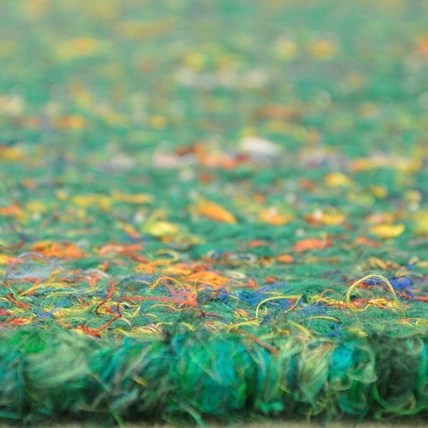 Ručne tkaný koberec Sari, 60x90 cm, zelený
